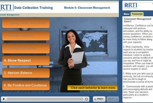 RTI International Online Training Modules