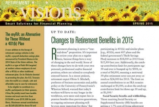 Goldman Sachs Retirement Visions Newsletter