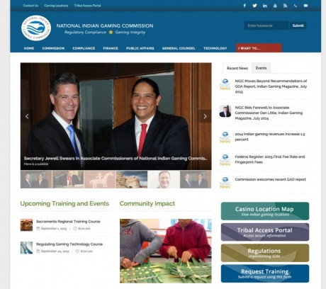 National Indian Gaming Commission Website Redesign