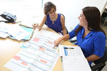 StatComm team making a schedule