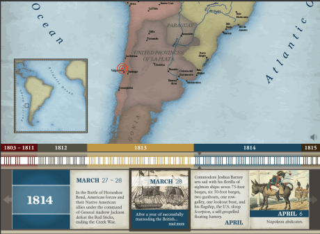 War of 1812 Narrated Interactive Web-Based Timeline