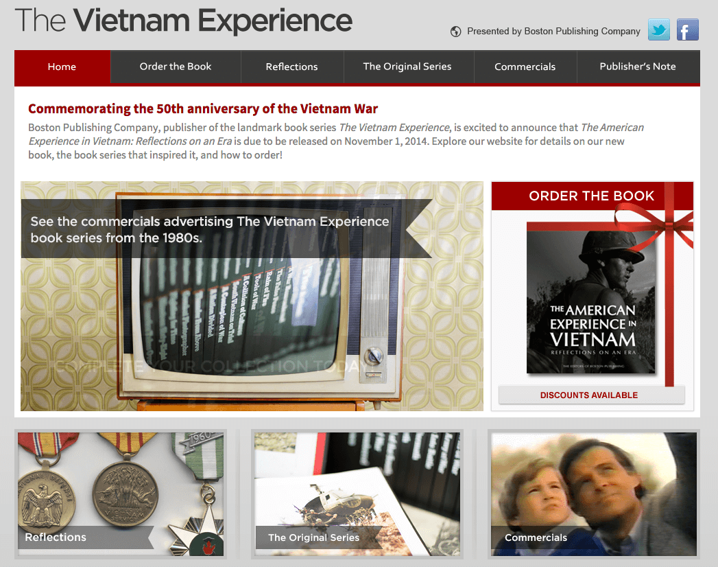 Boston Publishing presents: Vietnam Experience Website